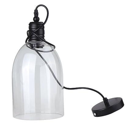 Vintage Industrial lámpara de techo, Gran forma de campana ...