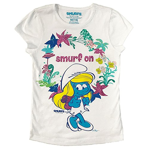 Smurfs Big Girls Clothing Graphic Short-sleeve T-shirt, white, large -