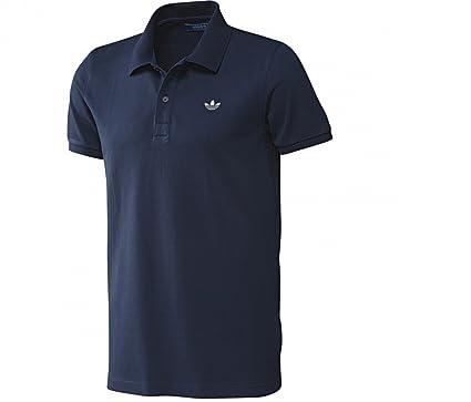 Adidas Originals Retro para hombre para el cuello Polo de manga corta para trébol Basic Casual piqué camiseta de manga corta camiseta para hombre: ...