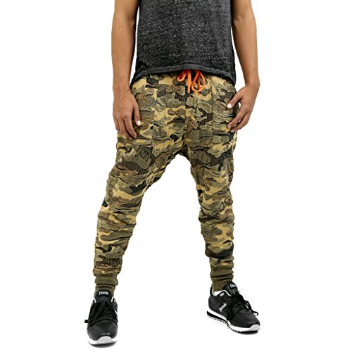 Men's COOGI Camo Pants Olive Camo 3X-Large