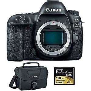 Canon EOS 5D Mark IV 30.4 MP Full Frame CMOS DSLR Camera Body & Lexar 128GB Memory Card Bundle