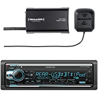 Kenwood KDC-BT565U In Dash CD Player AM/FM Bluetooth Radio Stereo Receiver With Sirius SXV300-V1 Vehicle Satellite Radio Tuner