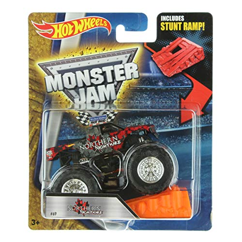 NORTHERN NIGHTMARE CANADA W/ RAMP MONSTER JAM TRUCK HOT WHEELS 2016