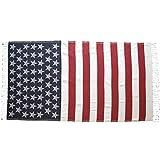 USA Flag Towel Turkish Peshtemal Bath and Beach Towel Oversized Patriotic 100% Cotton Pool Spa Fitness