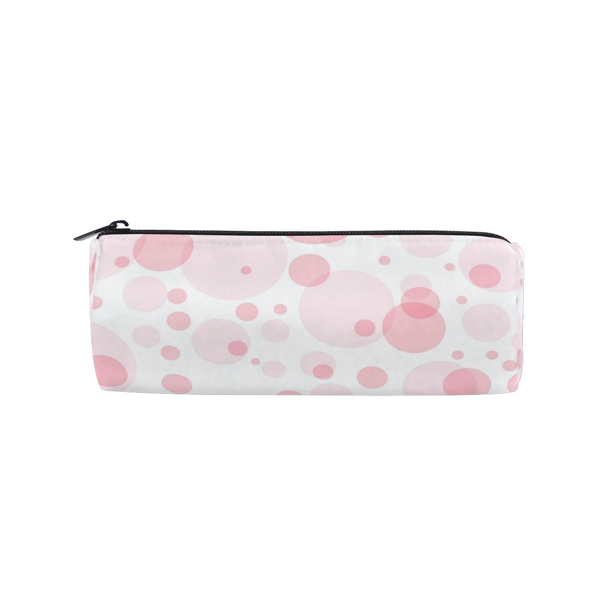 Cooper Girl Pink Polkadots Pencil Bag Pen Case Students Stationery Pouch Zipper Bag for Girls Boys Kids