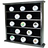 Golf Gifts & Gallery UC641 Clubhouse Collection 25 Ball Display Cabinet (Black)