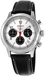 Seiko Men's SSB003P2 Silver Dial With Chronograph Watch