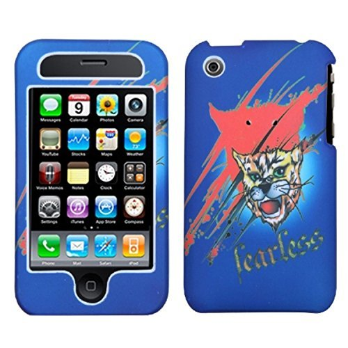 MYBAT IPHONE3GHPCLZ504NP Lizzo Durable Protective Case for iPhone 3G - 1 Pack - Retail Packaging - Bobcat Blue