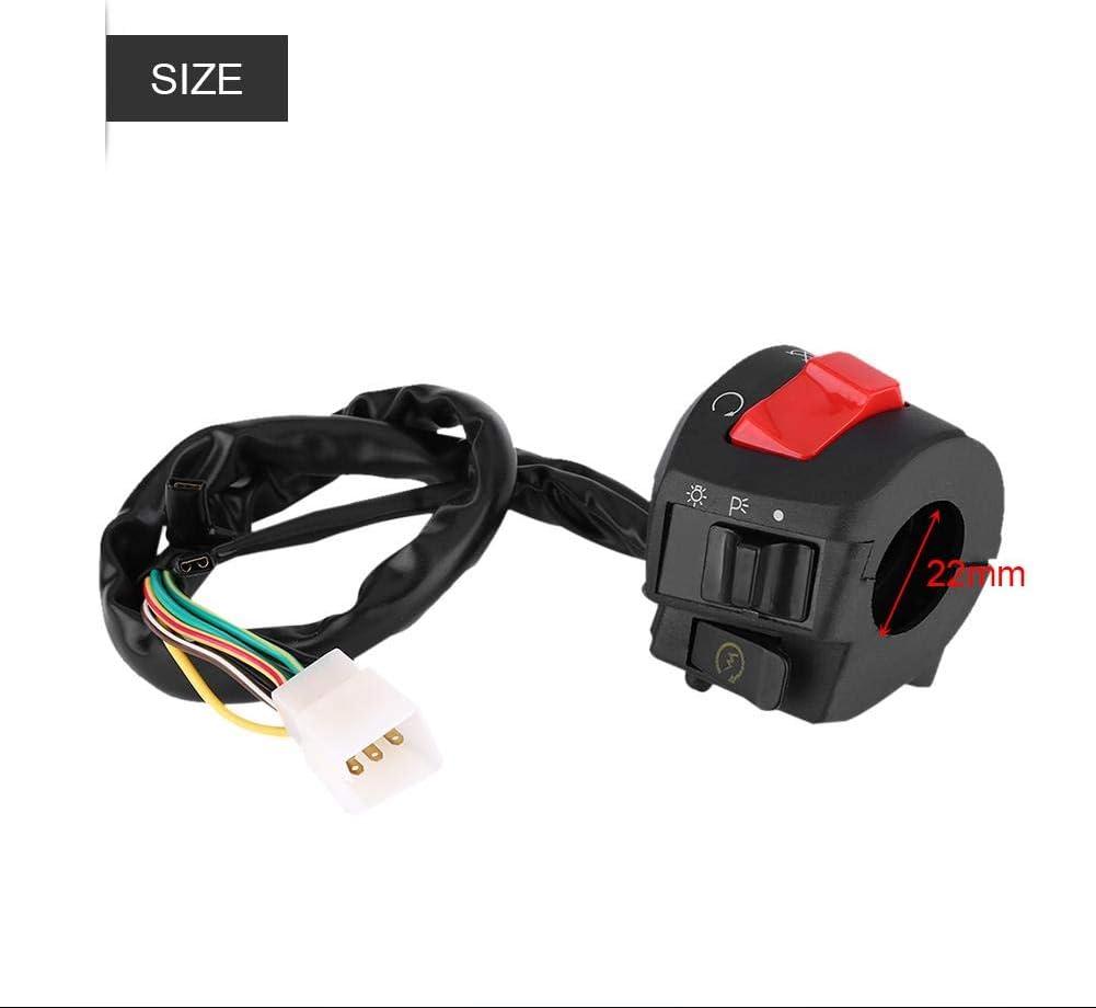 Interruptor del manillar Interruptor de control 2 piezas Moto 7//8Interruptor de montaje del manillar izquierdo y derecho con bocina y control de encendido