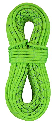 [Sterling Velocity 9.8mm Dynamic Climbing Rope with Dry Finish - Green BiColor 70m] (70m Dry Rope)