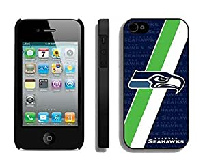NFL Seattle Seahawks iphone 4 4S Casecell phone cases&Gift Holiday&Christmas Gifts NFIU8716008