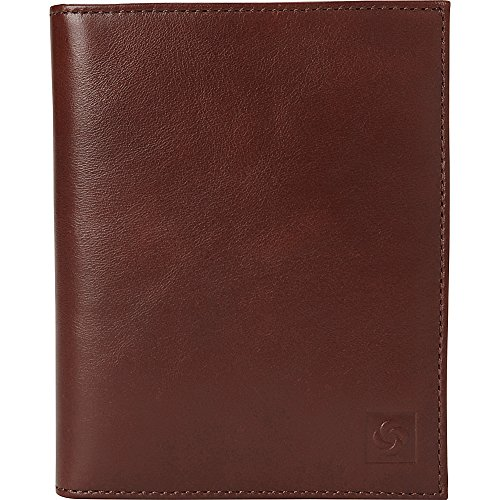 Samsonite 1910 Leather Passport Case (Chestnut)