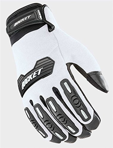 Joe Rocket Velocity 2.0 Men's Textile Street Motorcycle Gloves - White/Black/Medium