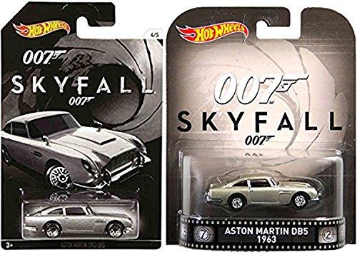 James Bond Exclusive Hot Wheels Set 2015 & SKYFALL Retro Entertainment Die-Cast (Mach 5 Replica Car)