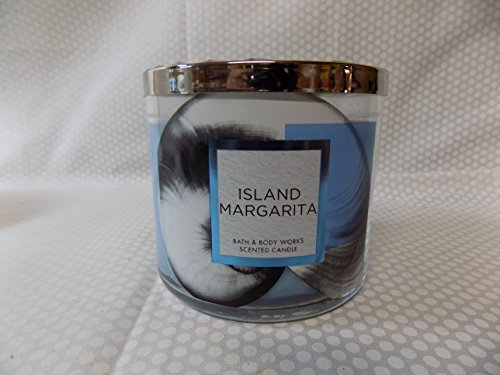 Bath and Body Works Island Margarita Scented 3 Wick Candle Margarita Glass Candle