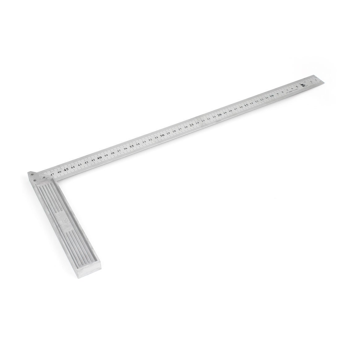 Uxcell Right Angle Double Sides Square Ruler Woodworking Tool, 50cm