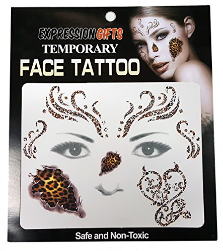 Cheetah Print - 2 Pack Face Tattoos