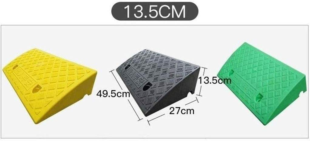 AMYAL Curb Ramp Portable Triangle Pad Plastic Kerb Ramps Caravan Mower Cart Scooter Door Ramp Threshold Ramps Multiple Height Uphill Pad Color : Yellow, Size : 49.52713.5CM