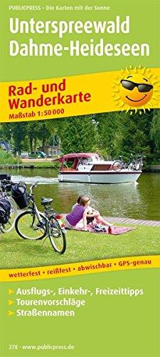 Unterspreewald - Dahme-Heideseen: Rad- und Wanderkarte mit Nebenkarten Königs Wusterhausen und Lübben, mit Ausflugszielen, Einkehr- & Freizeittipps, ... 1:50000 (Rad- und Wanderkarte / RuWK)