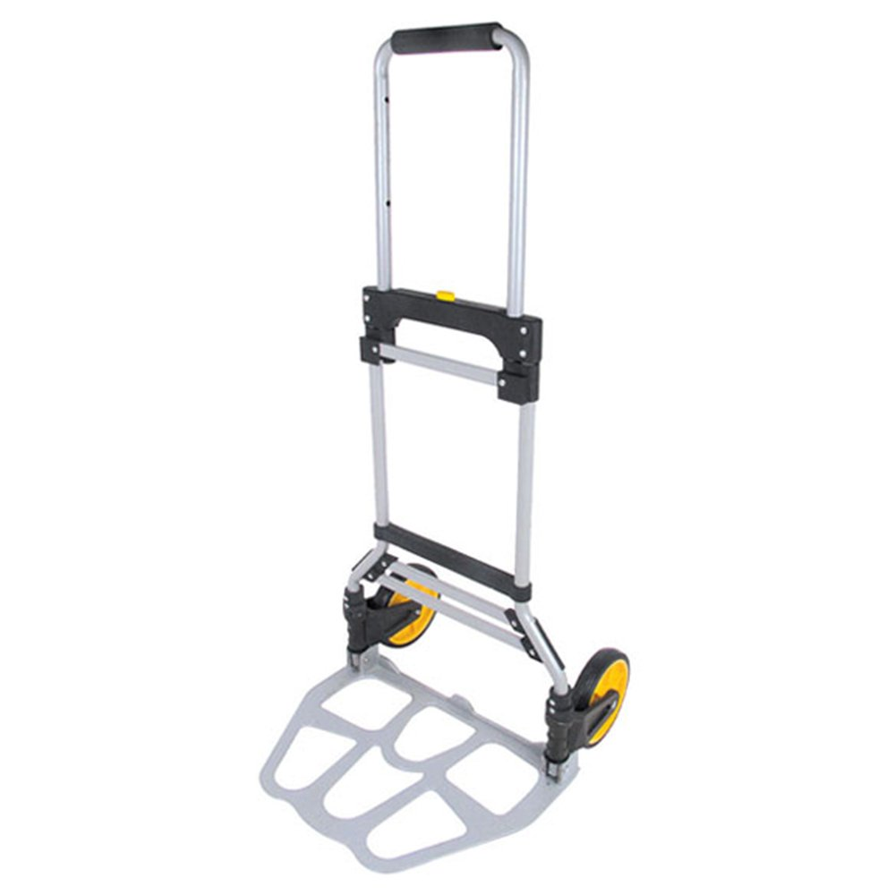 Portable Folding Aluminum Hand Truck Luggage Carts Dolly Trolley for Indoor Outdoor Travel Shopping Office, 260lb Capacity (Black/Yellow)
