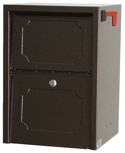 dVault® Weekend Away Vault DVJR0060 Locking Post/Column Mount Mailbox (Copper Vein) by dVault