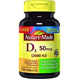 Nature Made Vitamin D3 2000 IU Tablets 220 Ct Value Size (Packaging may vary), 2 Pack For Sale