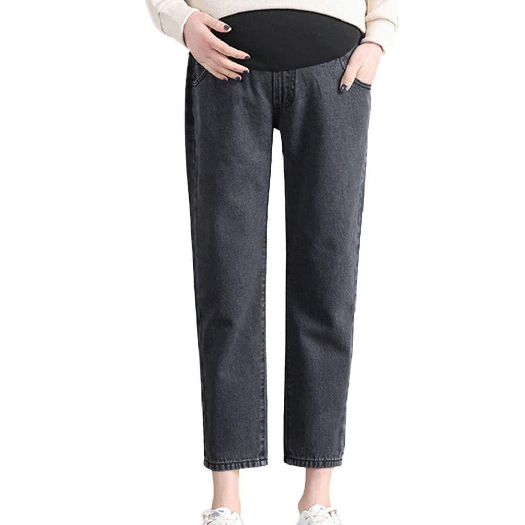 Maternity Women's Maternity Indigo Blue Stretch Secret Fit Belly Boot Cut Jean by PLENTOP
