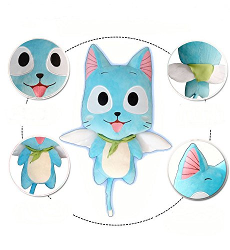 Cosplaywho Fairy Tail Happy Plush Handmade Toy 12""