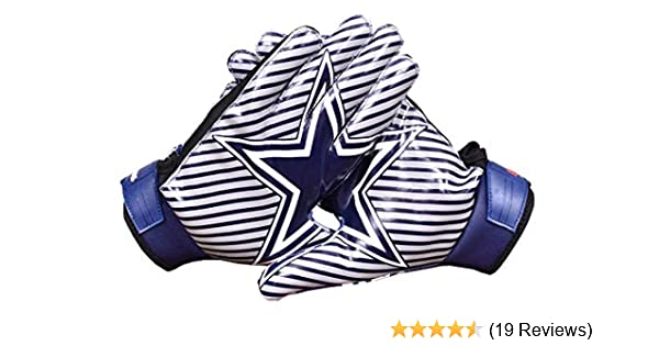 LYCOS GEARS Dallas Cowboys Blue Star Football Gloves Receiver Youth//Kids//Adults Sizes