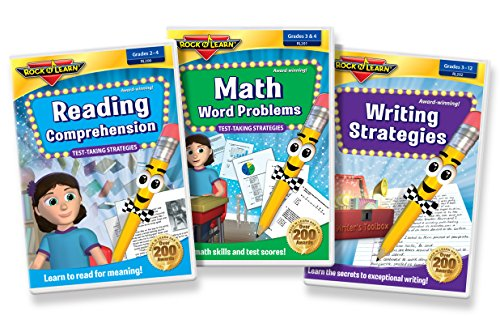 Test Prep DVD Collection - Reading Comprehension, Math Word Problems and Writing Strategies