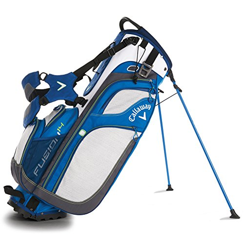 Callaway 2016 Fusion Stand Bag, White/Blue/Green (Callaway Chev Stand Bag compare prices)