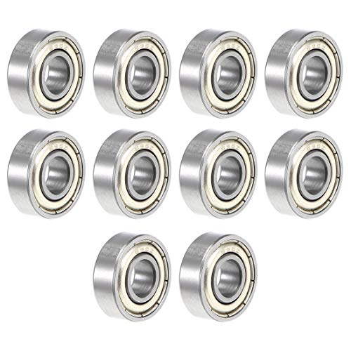 (uxcell 696ZZ Deep Groove Ball Bearing 6x15x5mm Double Shielded ABEC-3 Bearings 10-Pack)