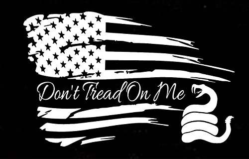 Distressed American Don't tread on Me Truck Window Sticker Home Decor
