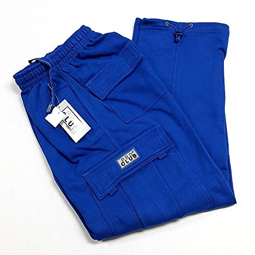 Pro Club Men's Fleece Cargo Pants Sweatpants - Royal Blue Pro Club: XL
