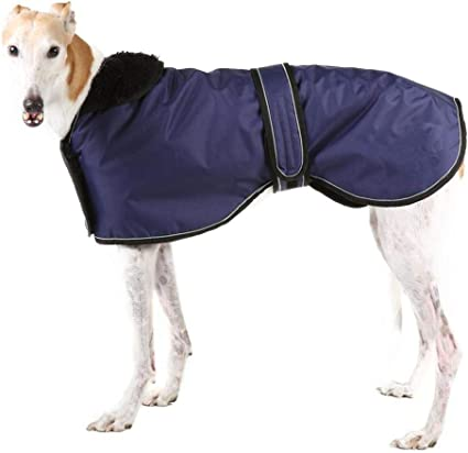 Large Dog -Red-XXL Greyhound Cosy Fleece Jumper Dog Winter Coat with Warm Fleece Lining Outdoor Dog Apparel with Adjustable Bands For Medium