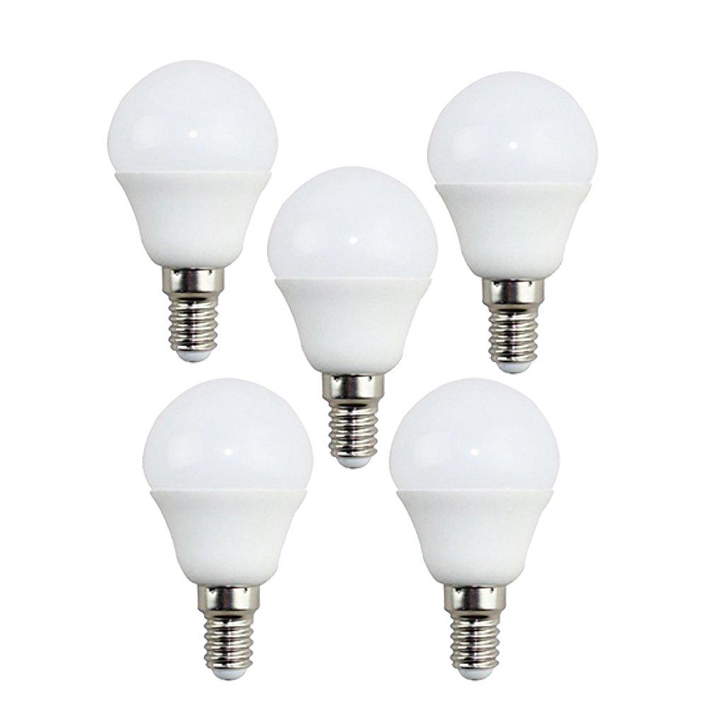 KHEBANG Bombillas LED E14 G45 7W Bombillas esfericas,Equivalente 60W,Luz Neutra 4000K,Pack de 5 Unidades: Amazon.es: Iluminación