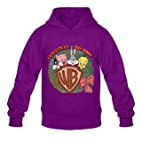 The Looney Tunes Show Hoodies For Man O-Neck L Purple]