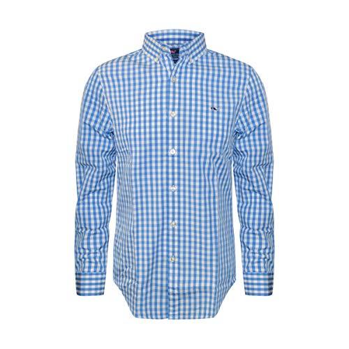 - Vineyard Vines Men's Slim Fit Whale Shirt Button Down Dress Shirt (Hull Blue Sea Park Gingham, X-Large)