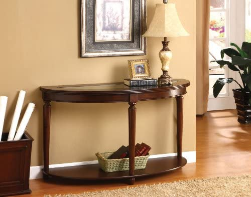 Furniture of America Sofa Table Dark Cherry