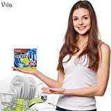 Vila Swish Dishwasher Tablets (20 pcs): Fresh Lemon Essence: New Strong Formula for Effective Removal of Stubborn Food: No Residue: Your Dishes Will Look Sparkling & New!