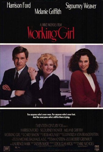 Lake Movie Poster - Working Girl POSTER Movie (27 x 40 Inches - 69cm x 102cm) (1988) (Style B)