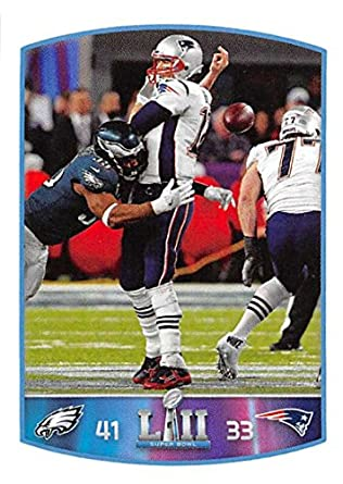 47ab346843 2018 Panini NFL Stickers Collection  456 Tom Brady New England Patriots  Super Bowl LII Fumble