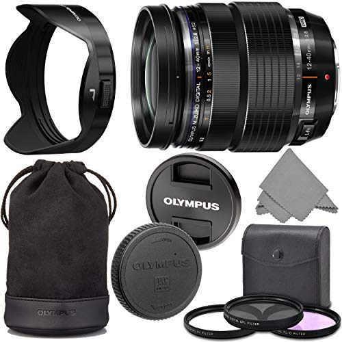 Olympus M.Zuiko 12-40mm f2.8 PRO: Olympus M.Zuiko Digital ED 12-40mm f/2.8 PRO Lens (V314060BU000) + AOM Pro Starter Kit Bundle – International Version (1 Year AOM Warranty)
