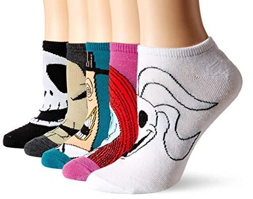 Disney Nightmare Before Christmas Women's 5 Pack No Show Socks