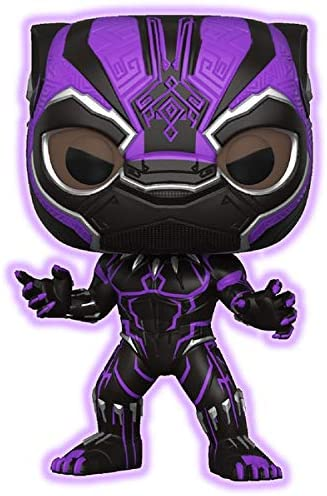 Target Exclusive Funko POP Marvel: Black Panther Purple Glow Black Panther