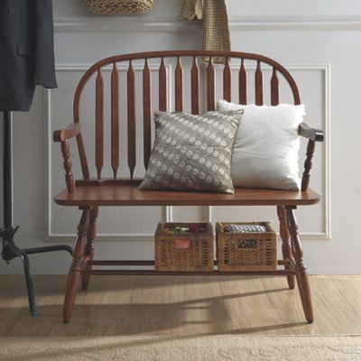 Classic Windsor Bench - Chestnut Finish by Carolina Classics