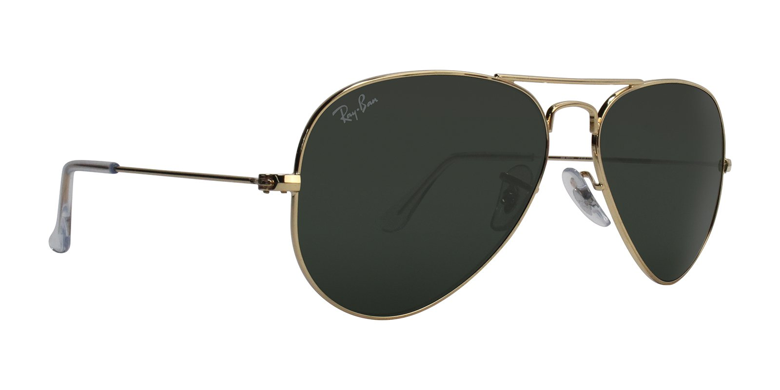 Ray-Ban AVIATOR LARGE METAL - GOLD Frame GREY GREEN Lenses 55mm Non-Polarized