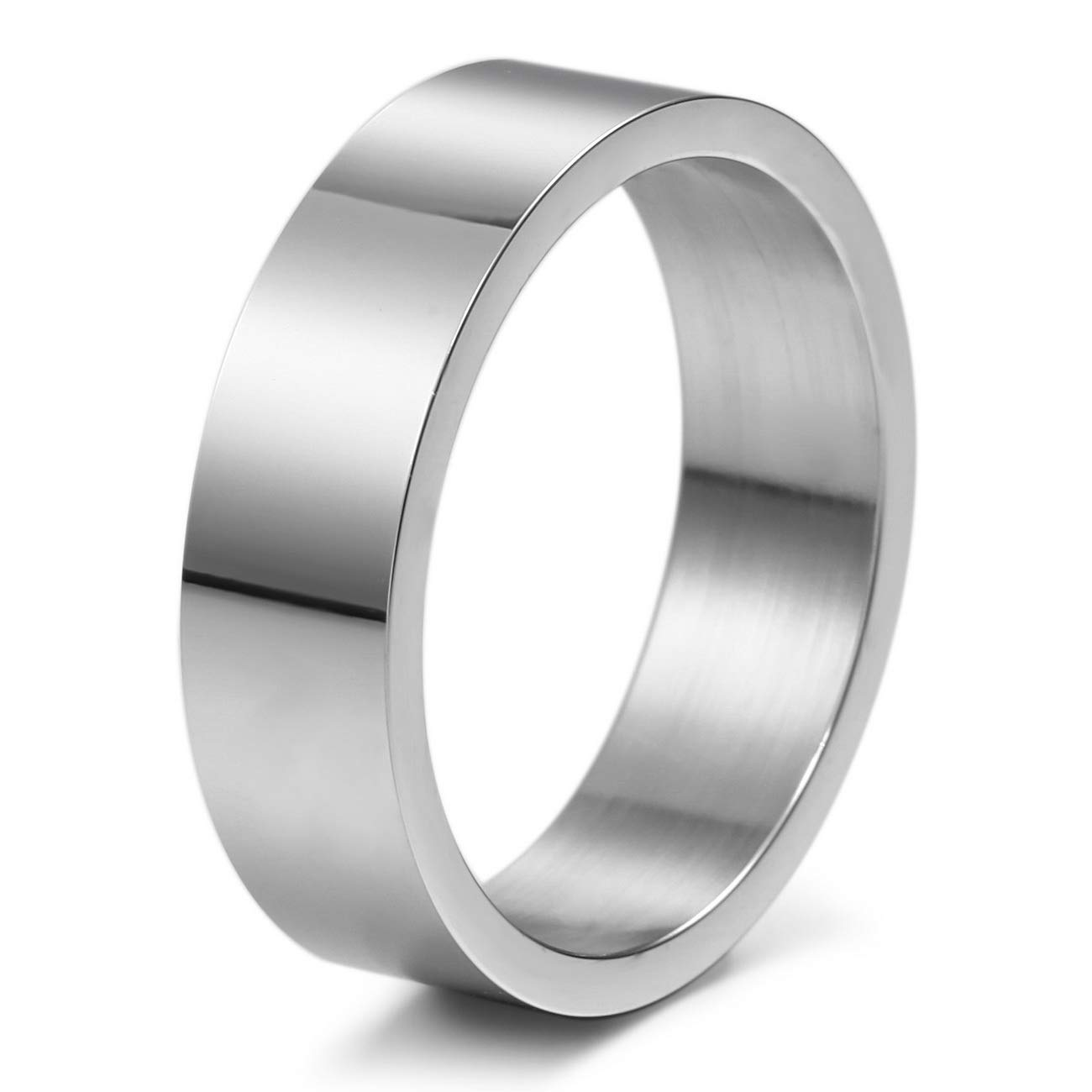 MeMeDIY 6mm Silver Tone Stainless Steel Ring Wedding Band Size 10 - Customized Engraving by MeMeDIY (Image #5)
