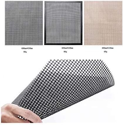 Barbecue Grill Mesh Mat-Set 3 PCS Anti Stick Stick Mesh Reusable Resistant Heat Resistant BBQ Teflon Grill Mats For Grilling Meat, Veggies, Baking, Barbecue And Oven, 40 X 33 Cm