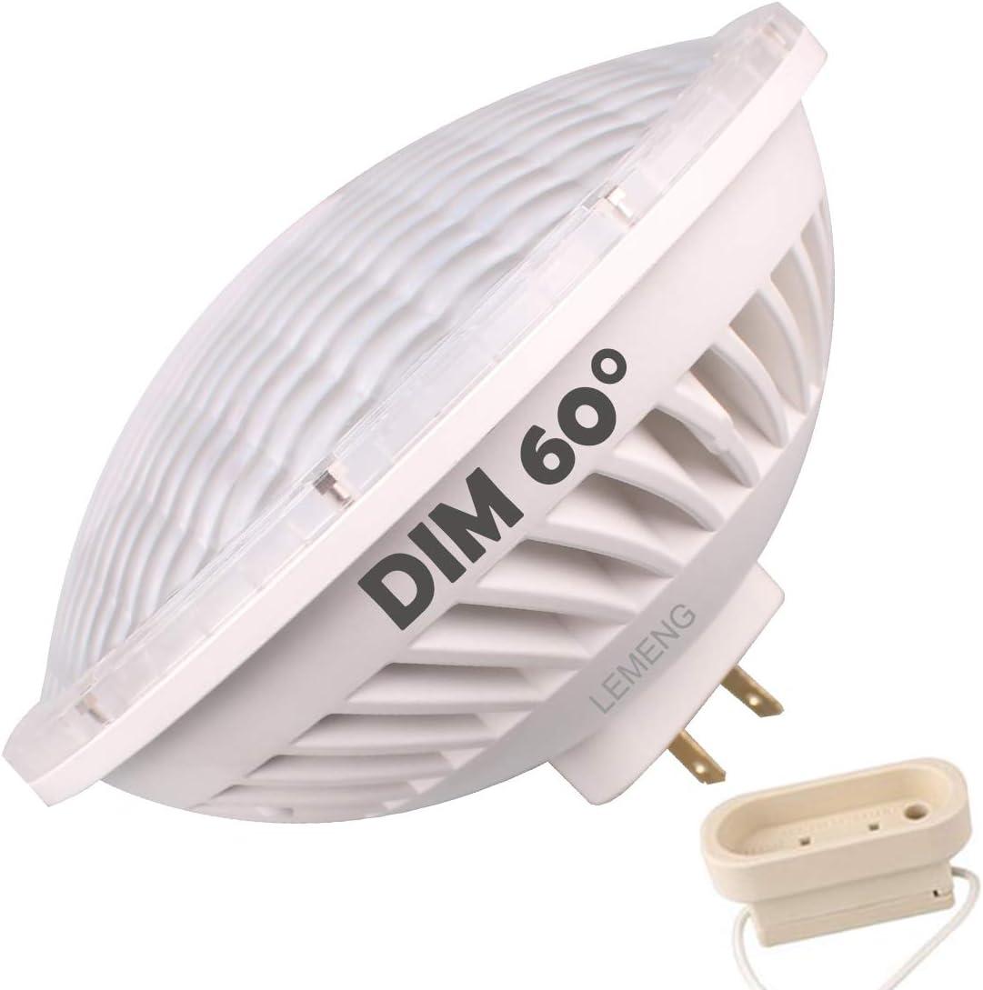 LeMeng Par56 LED Bulb Dimmable 28W Warm White Spot Light (2700-3000K) 60°Beam Angle MFL GX16D Base, Replace Par 56 300W Halogen Light